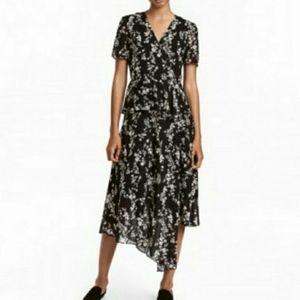 H&M Asymetrical Midi Dress Size 8